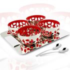 stainless steel snack set