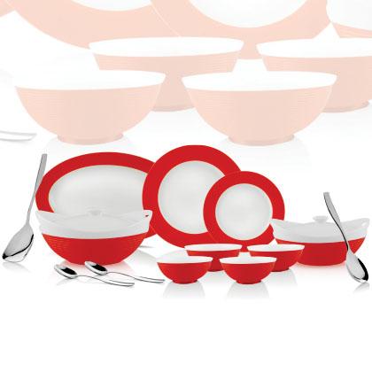 Dinner Set (Red)